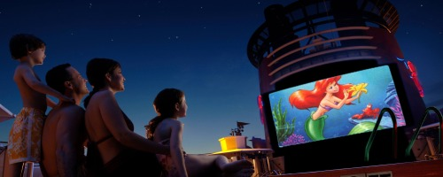 "Family Watching ""Little Princess"" onboard Disney Dream"