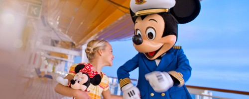 Captain Mickey on cruise ship.