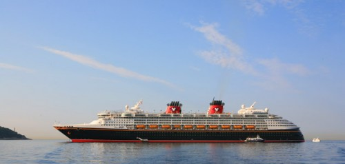 Disney Magic in port, Villefranche.